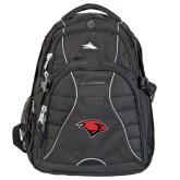 High Sierra Swerve Black Compu Backpack-Cardinal Head