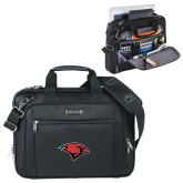 Kenneth Cole Black Vertical Checkpoint Friendly Messenger-Cardinal Head