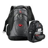 Wenger Swiss Army Tech Charcoal Compu Backpack-Cardinal Head