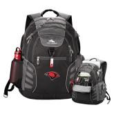 High Sierra Big Wig Black Compu Backpack-Cardinal Head