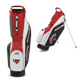 Callaway Hyper Lite 4 Red Stand Bag-UIW Cardinal Head Stacked
