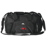 High Sierra Black Switch Blade Duffel-Cardinal Head