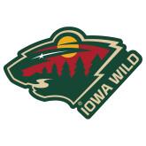 Extra Large Decal-Iowa Wild w Bear Head, 18in Wide