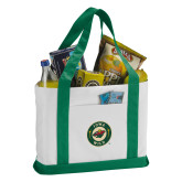 Contender White/Green Canvas Tote-Secondary Mark
