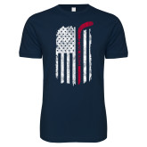 Next Level SoftStyle Navy T Shirt-Veterans Appreciation