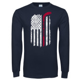 Navy Long Sleeve T Shirt-Veterans Appreciation