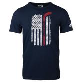 Adidas Navy Logo T Shirt-Veterans Appreciation