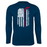 Performance Navy Longsleeve Shirt-Veterans Appreciation