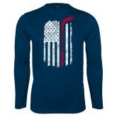 Syntrel Performance Navy Longsleeve Shirt-Veterans Appreciation