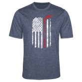 Performance Navy Heather Contender Tee-Veterans Appreciation