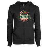 ENZA Ladies Black Fleece Full Zip Hoodie-5 Years