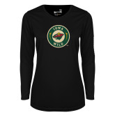 Ladies Syntrel Performance Black Longsleeve Shirt-Secondary Mark