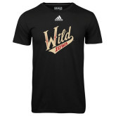 Adidas Climalite Black Ultimate Performance Tee-Primary Mark