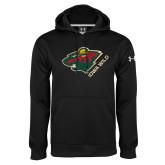 Under Armour Black Performance Sweats Team Hoodie-Iowa Wild w Bear Head
