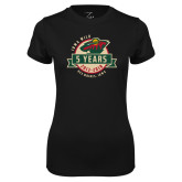 Ladies Syntrel Performance Black Tee-5 Years