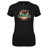 Ladies Syntrel Performance Black Tee-5 Years