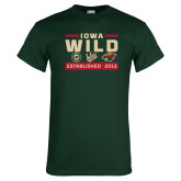 Dark Green T Shirt-Iowa Wild 3 Marks Design