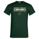 Dark Green T Shirt-Hockey Lives Here