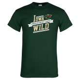 Dark Green T Shirt-Iowa Wild Banner Design