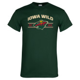 Dark Green T Shirt-Iowa Wild Arched