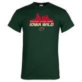 Dark Green T Shirt-Hockey Lives Here Cityscape