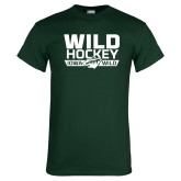 Dark Green T Shirt-Wild Hockey