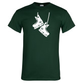 Dark Green T Shirt-Skates