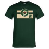Dark Green T Shirt-Iowa Wild Block Design