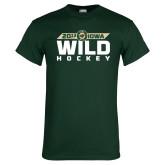 Dark Green T Shirt-Wild Hockey Banner