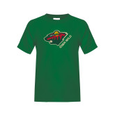 Youth Dark Green T Shirt-Iowa Wild w Bear Head