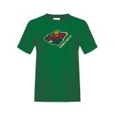 Youth Dark Green T Shirt-Iowa Wild w Bear Head
