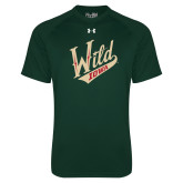 Under Armour Dark Green Tech Tee-Primary Mark