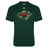 Under Armour Dark Green Tech Tee-Iowa Wild w Bear Head