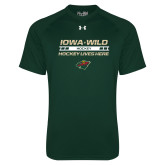 Under Armour Dark Green Tech Tee-Hockey Lives Here