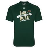Under Armour Dark Green Tech Tee-Iowa Wild Banner Design