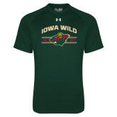 Under Armour Dark Green Tech Tee-Iowa Wild Arched