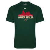 Under Armour Dark Green Tech Tee-Hockey Lives Here Cityscape