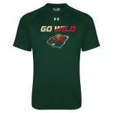Under Armour Dark Green Tech Tee-Go Wild