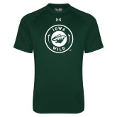 Under Armour Dark Green Tech Tee-Iowa Wild Seal One Color
