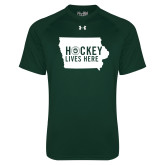 Under Armour Dark Green Tech Tee-Hockey Lives Here State