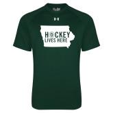 Under Armour Dark Green Tech Tee-Hockey Lives Here State