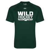 Under Armour Dark Green Tech Tee-Wild Hockey