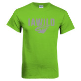 Lime Green T Shirt-IAWILD w Bear Head