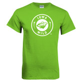 Lime Green T Shirt-Bear Head Tone