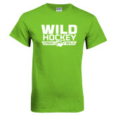 Lime Green T Shirt-Wild Hockey Banner - One Color