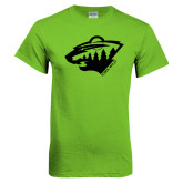 Lime Green T Shirt-Bear Head - One Color