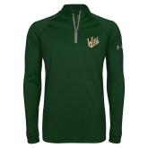 Under Armour Dark Green Tech 1/4 Zip Performance Shirt-Primary Mark