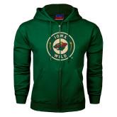 Dark Green Fleece Full Zip Hoodie-Secondary Mark