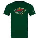 Adidas Dark Green Logo T Shirt-Iowa Wild w Bear Head