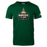 Adidas Dark Green Logo T Shirt-Minnesota vs St Louis